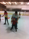 DAD AND PASSIE BABY - LEARN TO SKATE